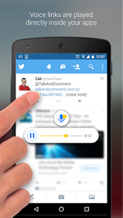 Talk and Comment - Voice notes- screenshot thumbnail