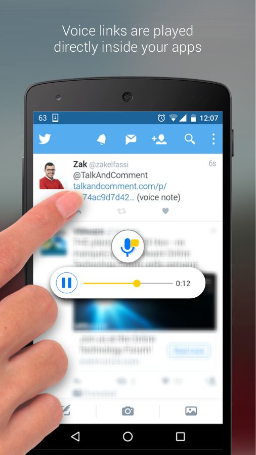 Talk and Comment - Voice notes- screenshot
