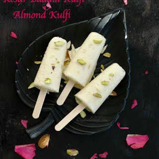 Kesar Badam Kulfi   Almond Kulfi Recipe   Kulfi Indian Dessert.