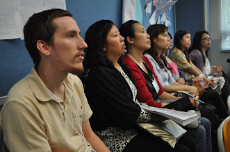 Photo: GEO Graham Guenther attending a breakout session with teachers from The Lutheran Church—Hong Kong Synod schools.