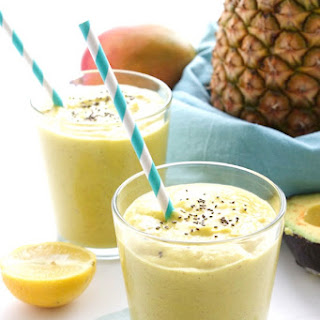 Pineapple Avocado Smoothie for Two.