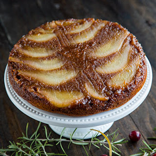 Pear Spice Upside-Down Cake