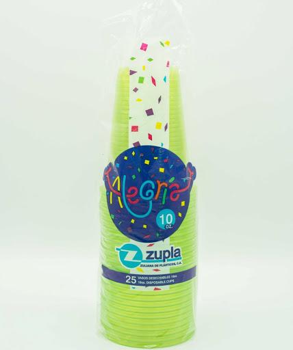 vasos alegria plastico colores surtidos 10oz 25und