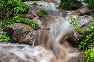 Photo: Stream above Lichen Falls; PEEC Waterfall Hike (0.33-s exposure)