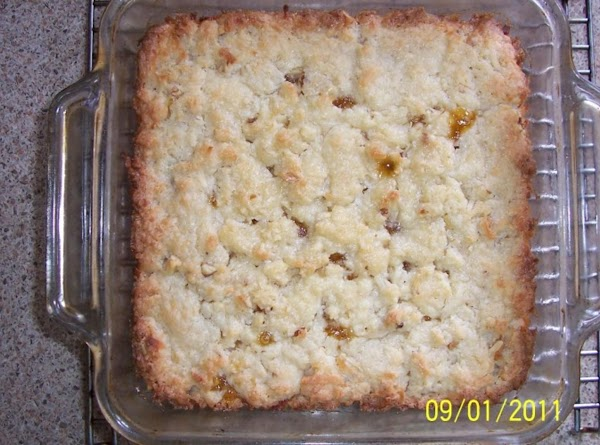 Cook at 350 degrees for 35 minutes. (If glass square baking dish is used...