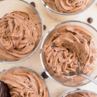 Boozy Dark Chocolate Mousse