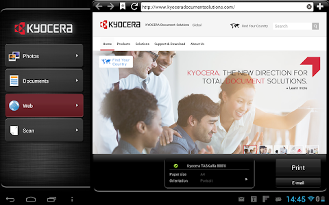 KYOCERA Mobile Print screenshot 2