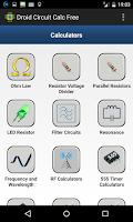 Screenshot of Droid Circuit Calc Free