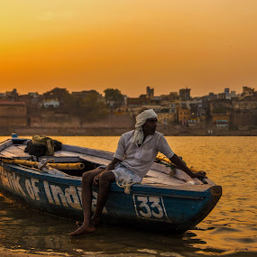 The Boatman by Avanish Dureha - Transportation Boats ( varansi, kashi, dureha@gmail.com, incredible india, banaras, avanish dureha )