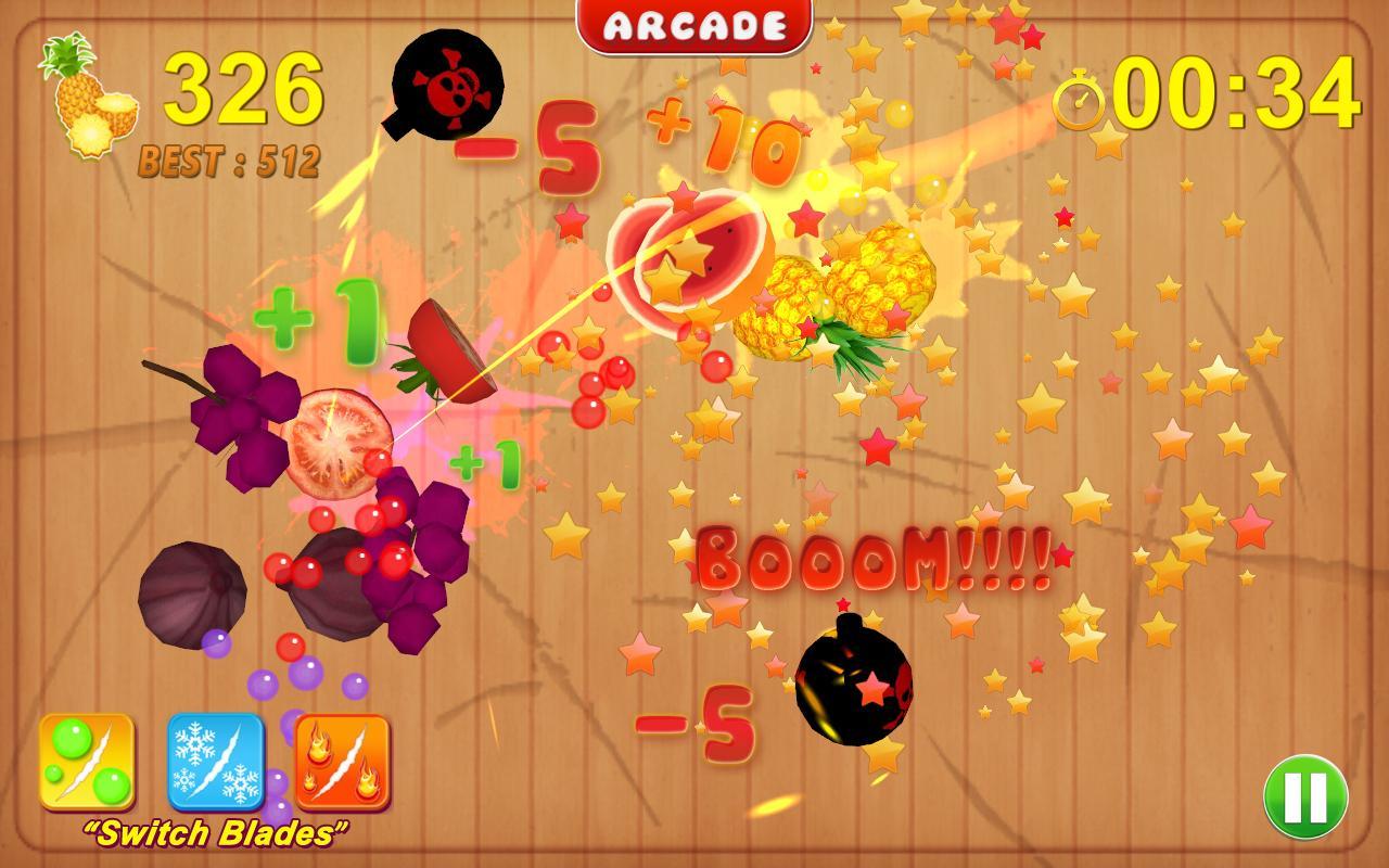 Cut fruits game - Fruit Cutting Game Screenshot