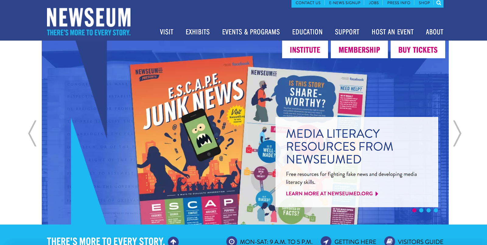 Newseum educational resources
