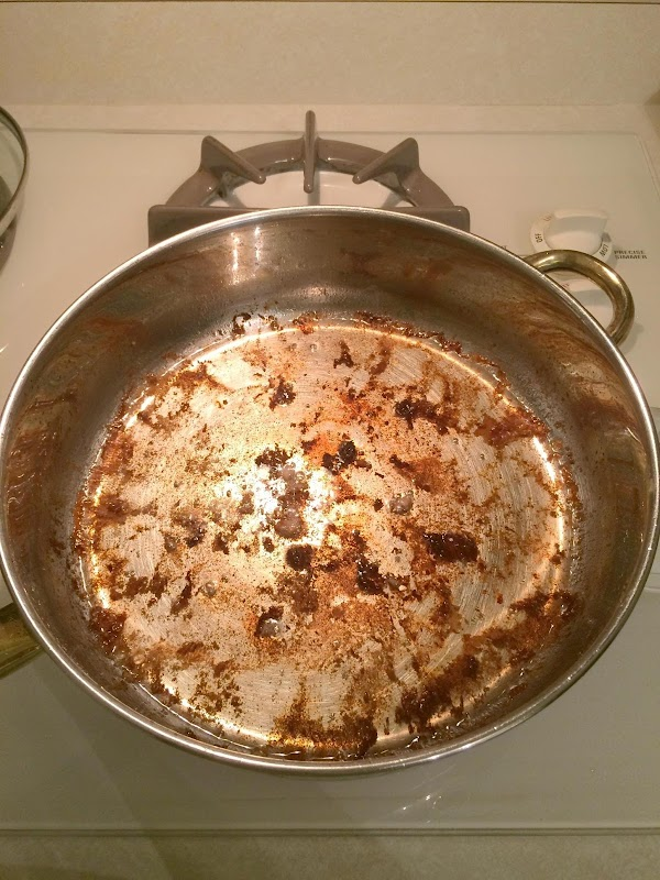 Now, remove the skewers from pan and put on a new plate.  Pour...