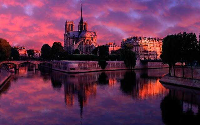 Notre-Dame de Paris Thema en nieuw tabblad
