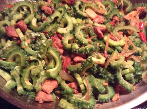 Add the ground pork or ground chicken. Add the soy sauce and the freshly...