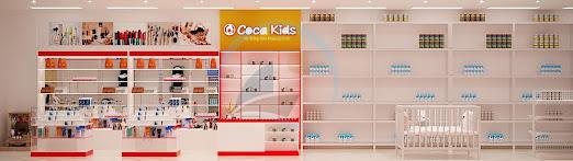 kệ trưng bày shop trẻ em