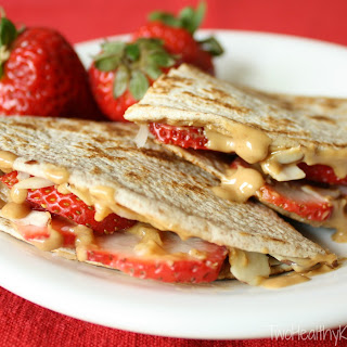 Strawberry-Peanut Butter Quesadillas.