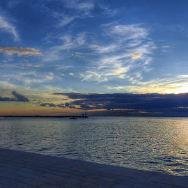 blue hour on the sea by Patrizia Emiliani - Landscapes Waterscapes ( blue, hour, sea,  )