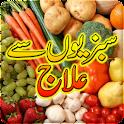 Santé avec des fruits légumes icon