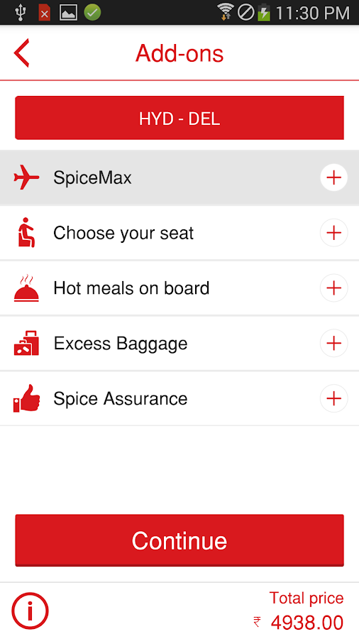 SpiceJet- screenshot
