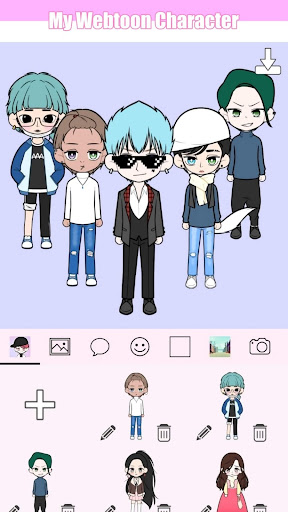 My Webtoon Character - K-pop IDOL avatar maker modavailable screenshots 1