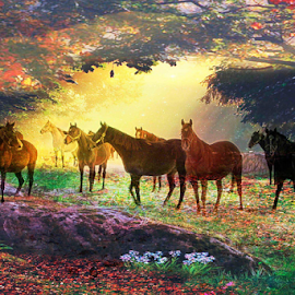 by Liz Okon - Digital Art Animals