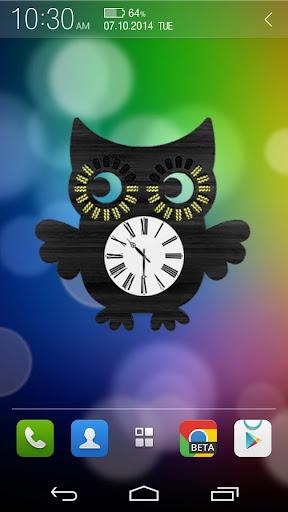 Owl Clock Widget