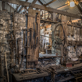 Angaston Blacksmith Shop Museum by Sharon Wills - Artistic Objects Industrial Objects ( south australia, tools, angastan blacksmith museum, metal, barossa valley, iron,  )