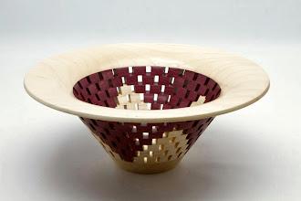 "Photo: #05 - Bob Grudberg - Segmented Bowl - 5"" x 10"" - Pecan and Purpleheart"