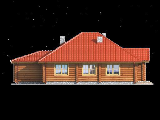 Dębina z garażem - Elewacja tylna