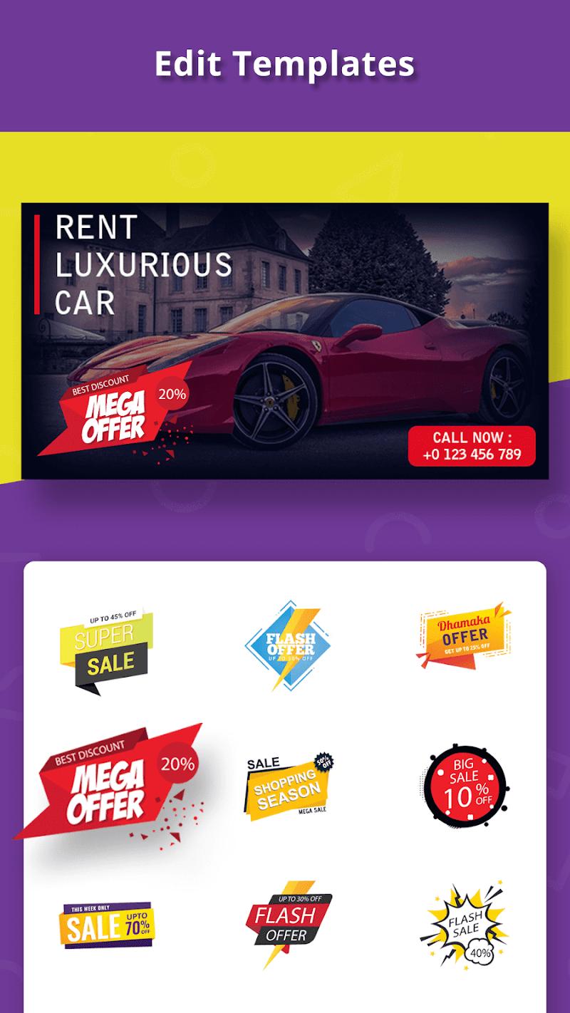 Banner Maker, Ad Maker, Web Banners, Graphic Art Screenshot 3