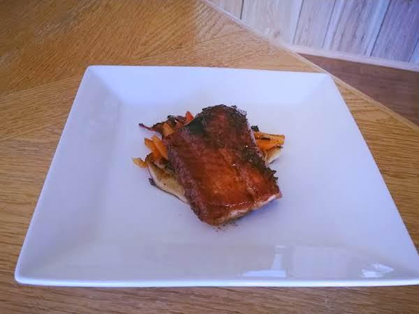 Coca Cola Glazed Salmon With Sauteed Veggies Recipe