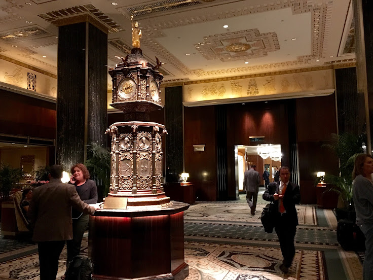 The lobby of the Waldorf Astoria.