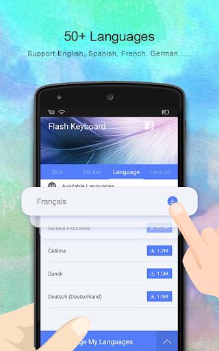 Flash Keyboard - Emoji & Theme screenshot 4
