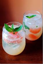 Photo: pink grapefruit mojito