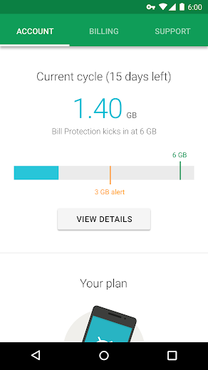 Screenshot 0 for Project Fi's Android app'