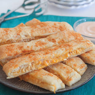 Cheesy Chicken Taco Breadstick Dippers.