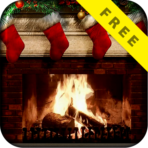 Christmas Fireplace Live