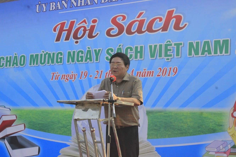 Ông Hồ Mậu Thanh, Giám đốc Sở Văn hóa và Thể Thao phát biểu