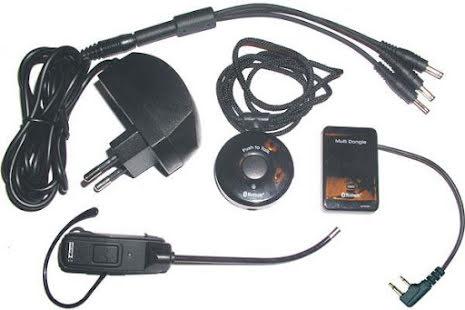 Blå Tands Kitt.Vinkl.Icom  .Headset+Dongel+PTT