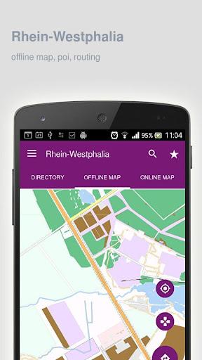 Rhein-Westphalia Map offline Apk Download Free for PC, smart TV