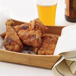 Beer-Battered Buttermilk Fried Chicken.
