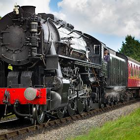 class s160 no 6046  by Martin Tyson - Transportation Trains ( north yorkshire moors, martin tyson, s160, track, loco, heritage, historic, railway, yorkshire, transport, 6046, locomotive, pickering, rail, train, nymr, steam )