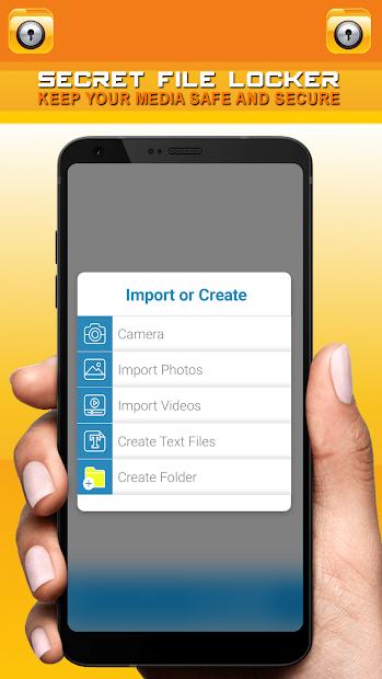 Secret File Locker - Security Lock App screenshot 1