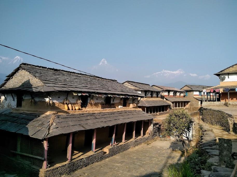 ネパールの独特な家並み