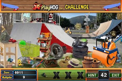 Challenge #230 Skate Park Free Hidden Object Games - náhled
