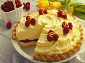 Raspberry Lemon  Cream Pie Recipe