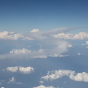Highway to Heaven. by Manoj Ojha - Landscapes Cloud Formations ( emiratesairlines, highway, heaven, oman, airspace, cloud )
