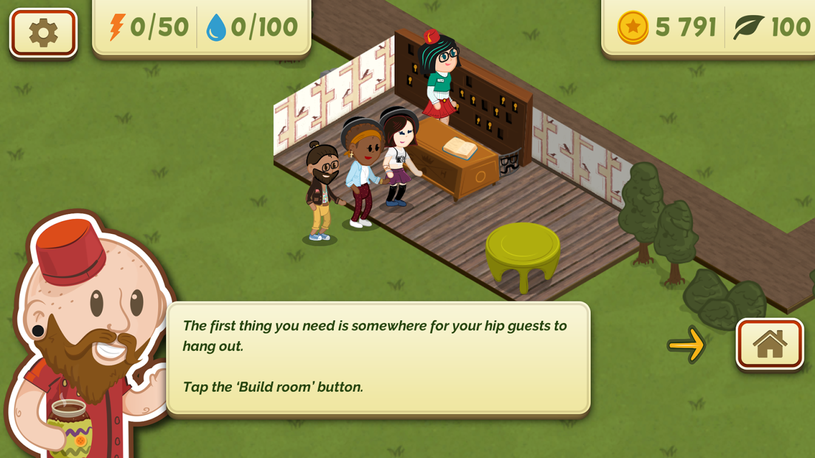 The Green Hipster Hotel – Screenshot