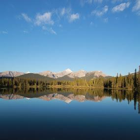 Bragg Creek Lake by Glenn Angel - Landscapes Mountains & Hills ( mountains, reflection, alberta, kananaskis, banff )