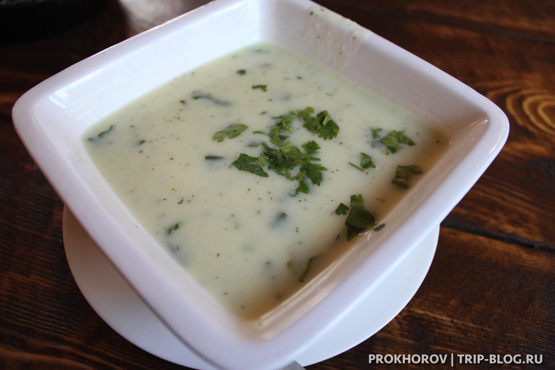 суп из мацони с мятой